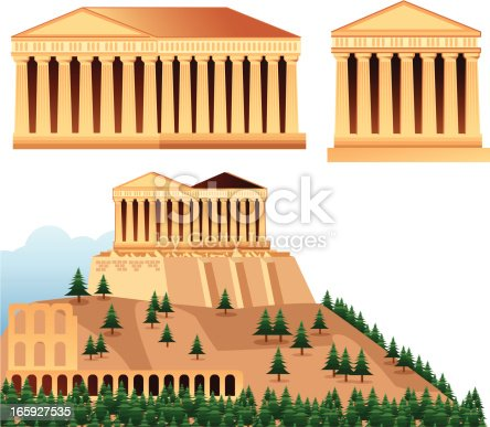 Vector Temples of Athens