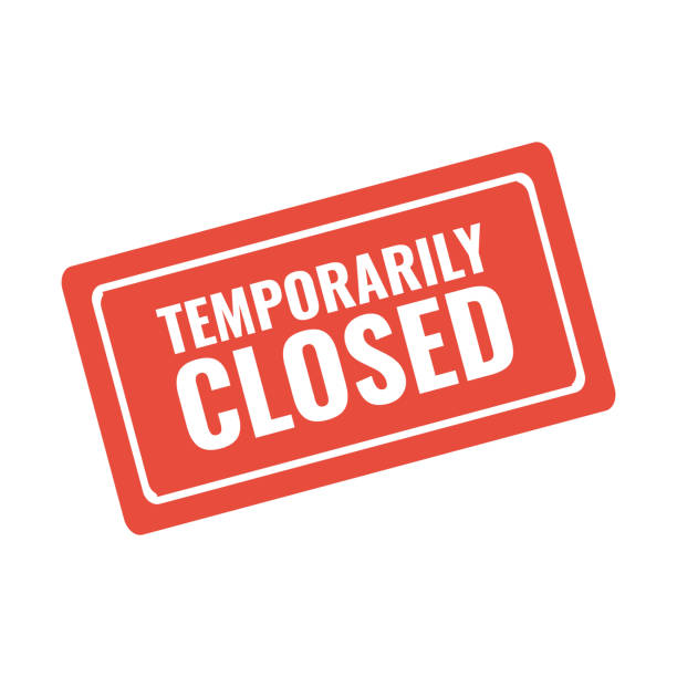 temporarily closed red stamp or warning sign temporarily closed red stamp or warning sign closed stock illustrations