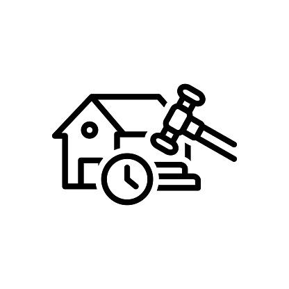 Icon for temporary, tempora, makeshift, property, streaky, legally, hammer