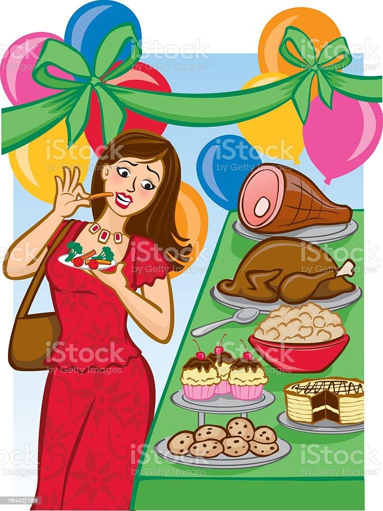 Tempting Holiday Buffet vector art illustration