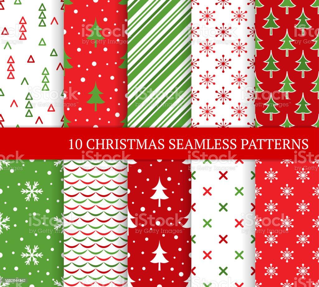 10 クリスマス異なるシームレス パターンクリスマス壁紙web ページの
