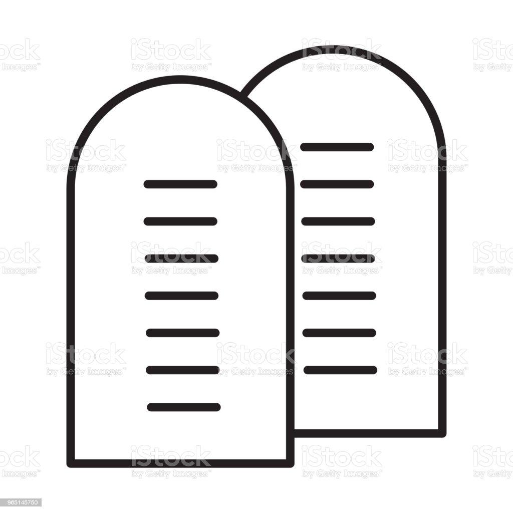 ten commandments icon ten commandments icon - stockowe grafiki wektorowe i więcej obrazów azerbejdżan royalty-free