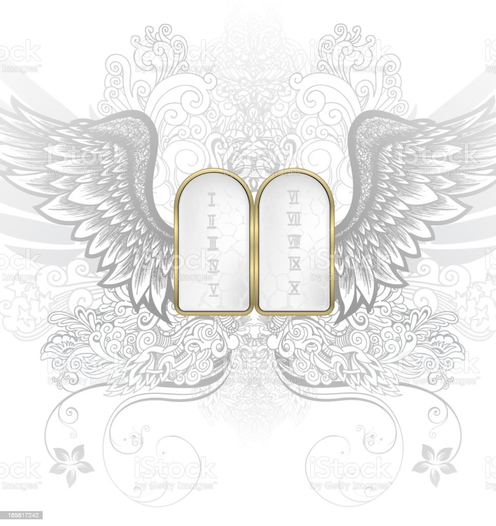 Ten commandments royalty-free stock vector art
