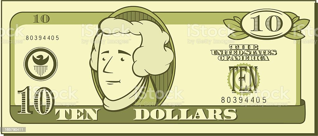 royalty free ten dollar bill clip art vector images illustrations rh istockphoto com 10 dollar bill clipart dollar bill clipart