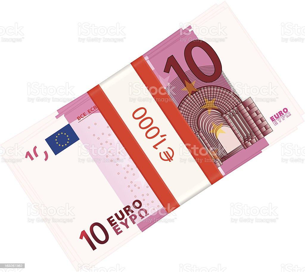 ten euro pack royalty-free stock vector art