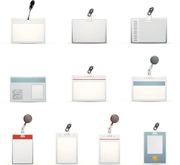 Ten ID badge templates designs http://www.cumulocreative.com/istock/File Types.jpg cardkey stock illustrations