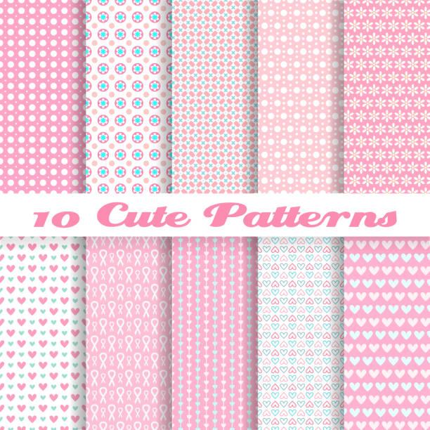 Diez sin costuras vector rosa patrón de papel tapiz - ilustración de arte vectorial