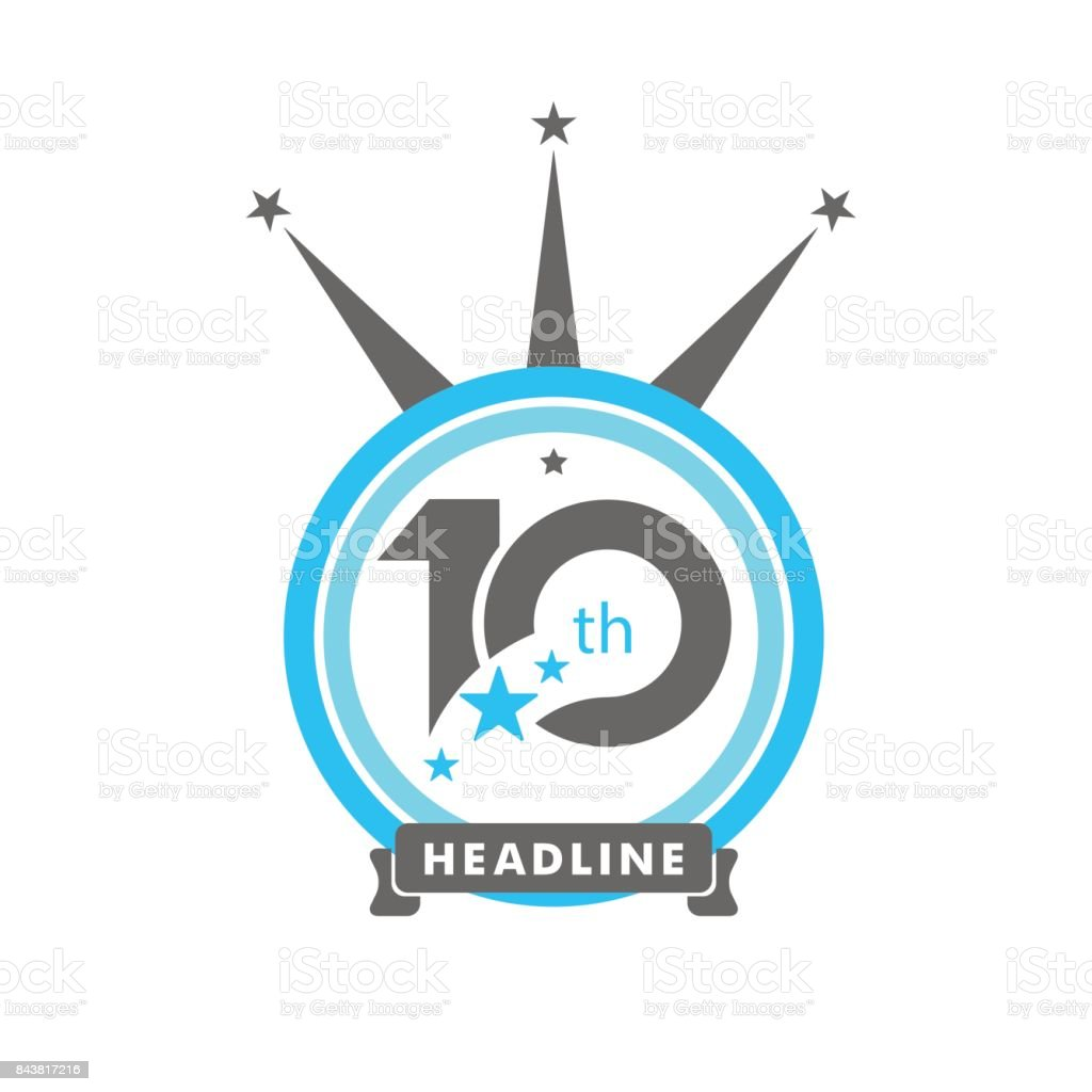 Ten Symbol Years Anniversary Logo Discount Stock Vector Art More