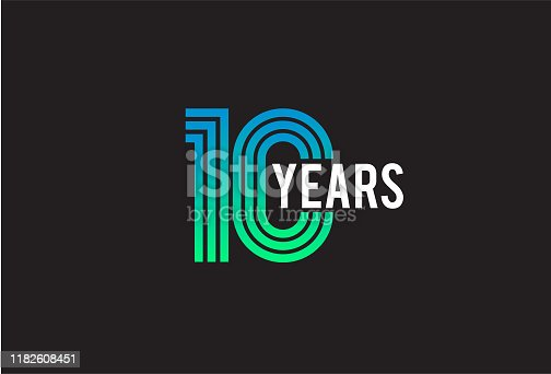 istock Ten Year anniversary design 1182608451