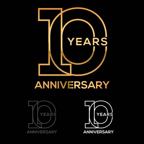 Ten Year Anniversary vector art illustration