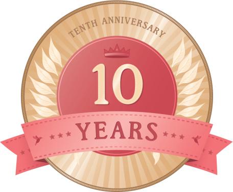 Ten Years Anniversary Badge