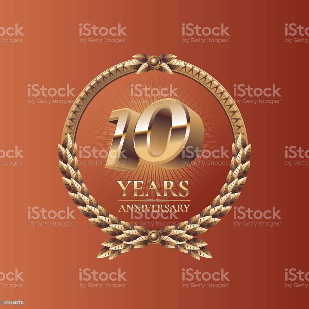 Ten years anniversary celebration design vector art illustration