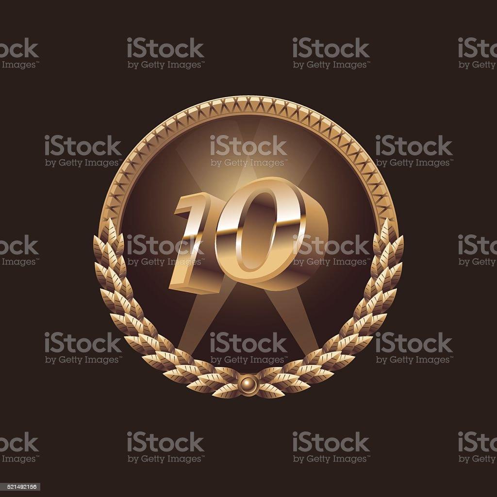 Ten years anniversary celebration design vector art illustration