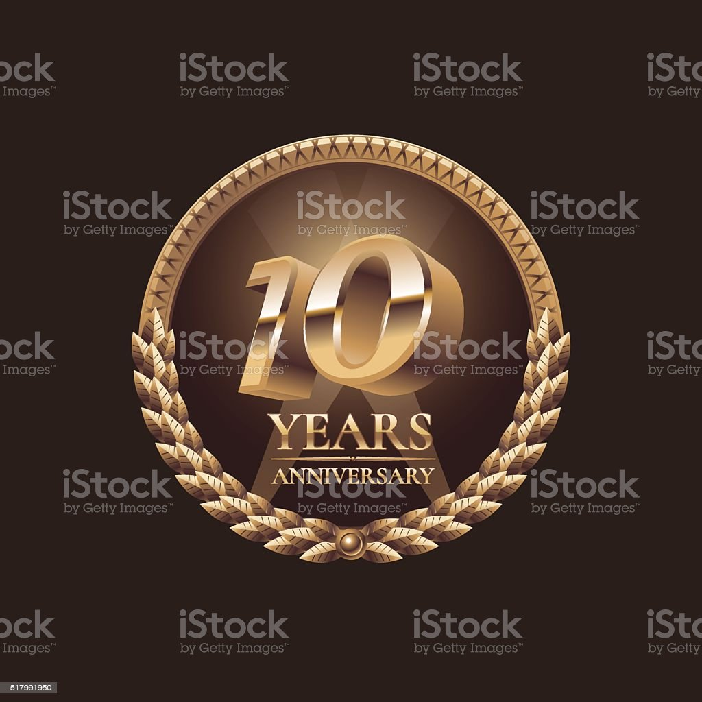 Ten years anniversary celebration design vector vector art illustration