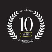 Ten Years Anniversary Emblem