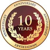 Ten Years Anniversary Golden Shield