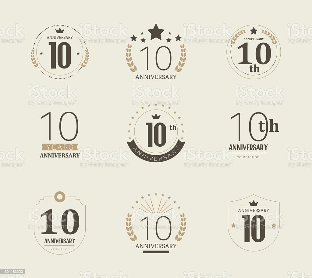Ten years anniversary logo 10th anniversary vintage logotype stock ten years anniversary logo 10th anniversary vintage logotype royalty free ten years anniversary altavistaventures Image collections