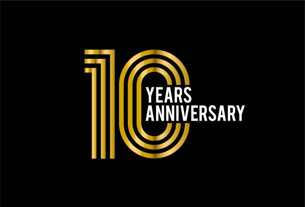 Ten Years Anniversary vector art illustration