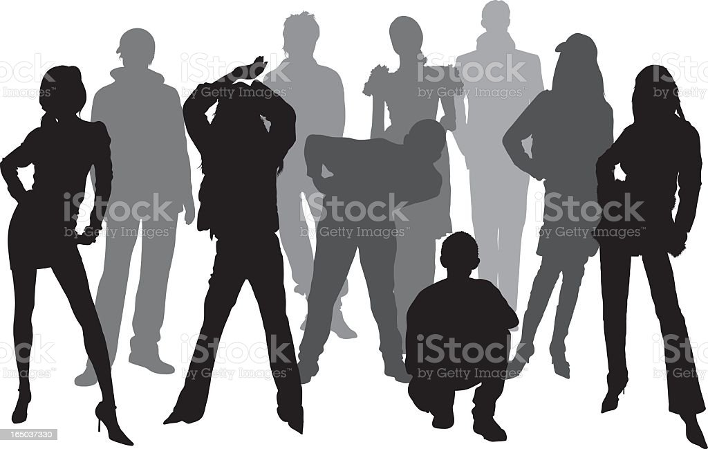 Ten Young People royalty-free stock vector art