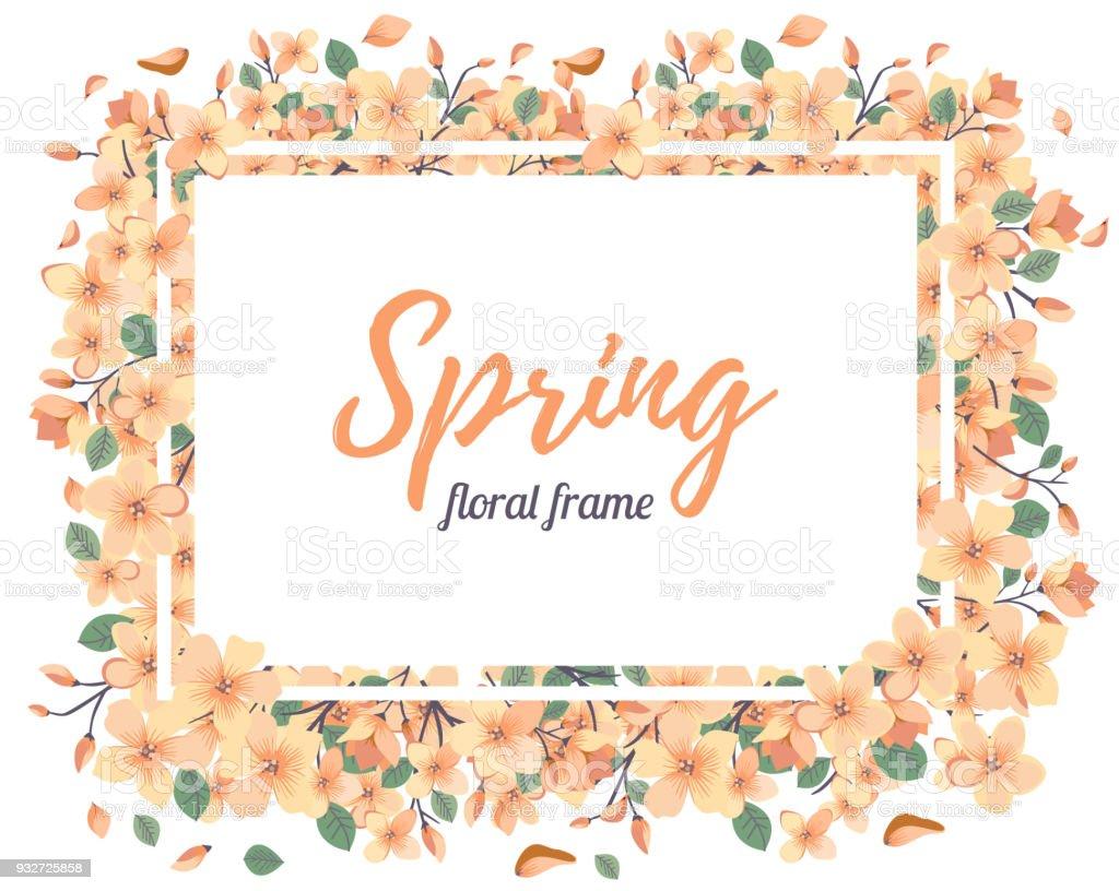 Ilustración de Concurso Floral Verano O Primavera Plantilla Marco y ...