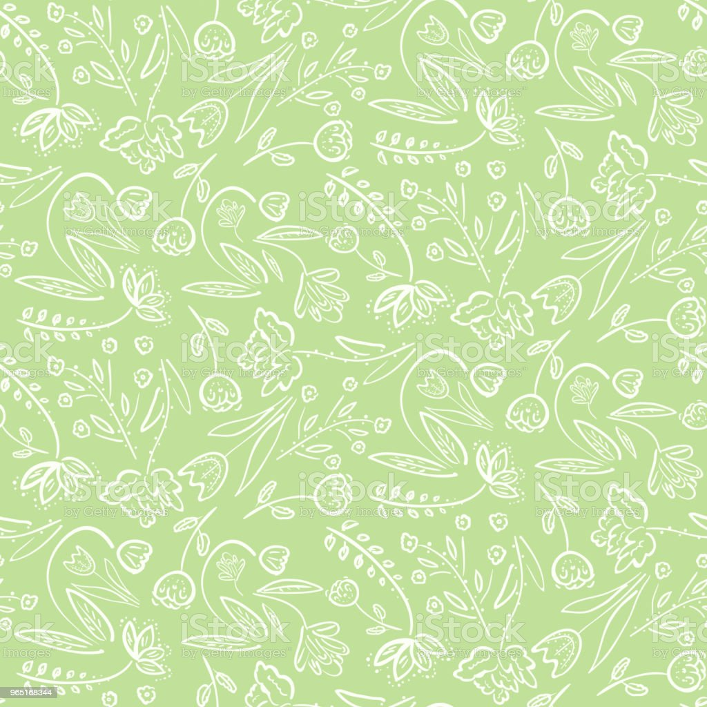Tender green pattern with spring flowers tender green pattern with spring flowers - stockowe grafiki wektorowe i więcej obrazów abstrakcja royalty-free