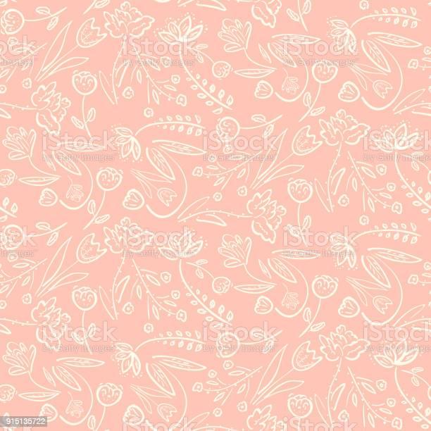 Tender pink pattern with spring hand drawn flowers vector id915135722?b=1&k=6&m=915135722&s=612x612&h=ispyzegr3potzvlkmejdjc4d1h98adxtyrittsnzsno=