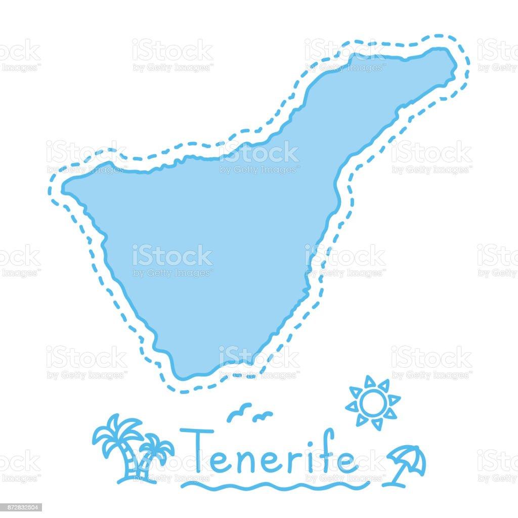 Teneriffa Karte.Karte Der Insel Teneriffa Isoliert Kartographie Konzept