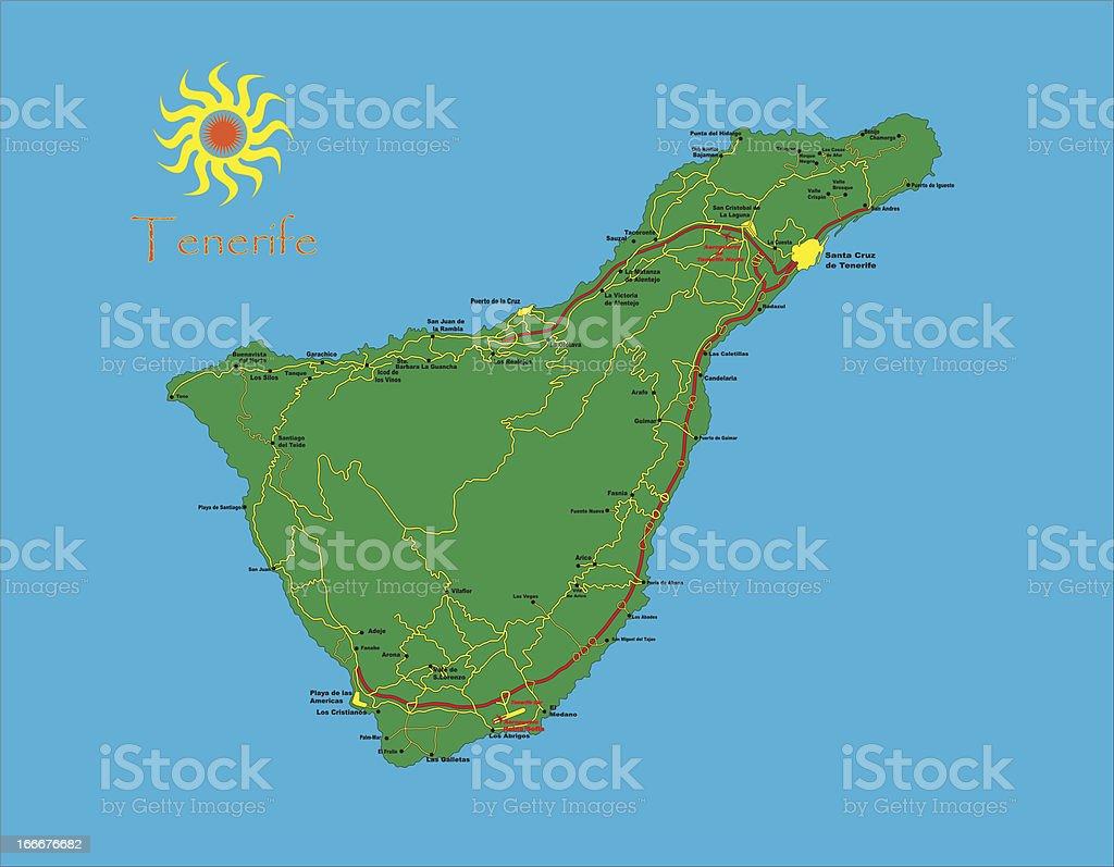 Tenerife Carte Vecteurs Libres De Droits Et Plus D Images Vectorielles De Au Bord De Istock