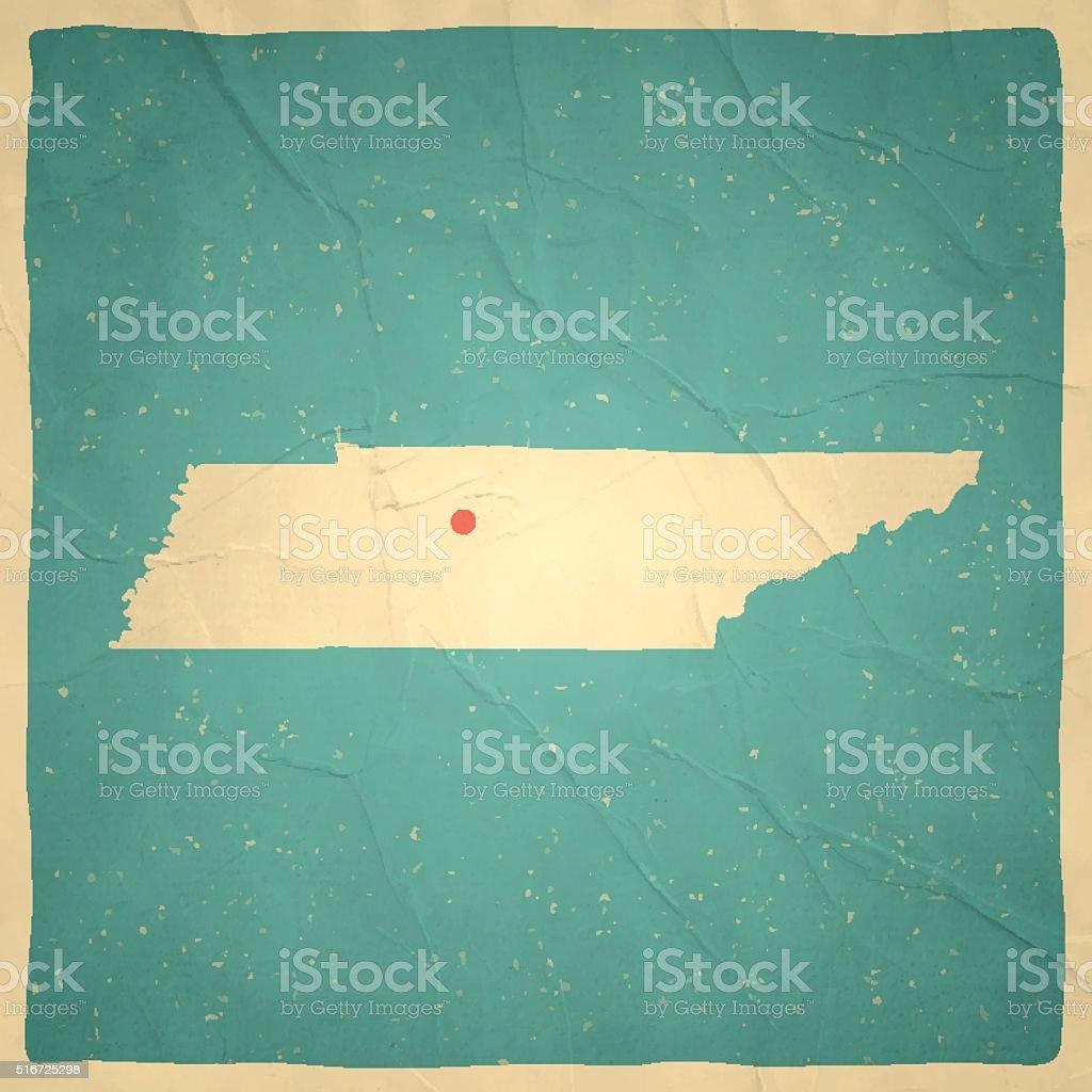 Vetor de Tennessee Mapa Na Textura De Papel Vintage Velho e mais ...