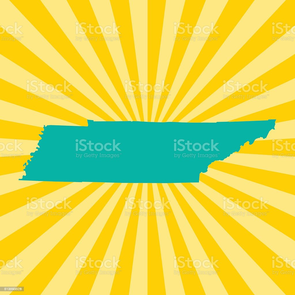 Tennessee Map vector art illustration