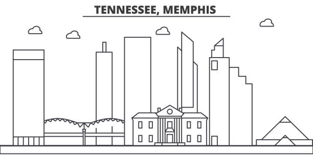 Royalty Free Memphis Bridge Clip Art Vector Images