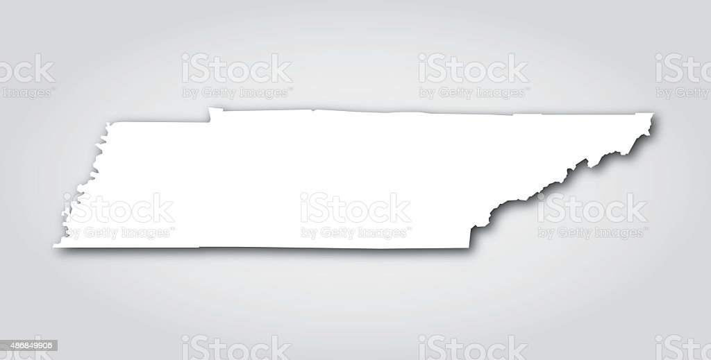 Tennessee Silhouette White vector art illustration