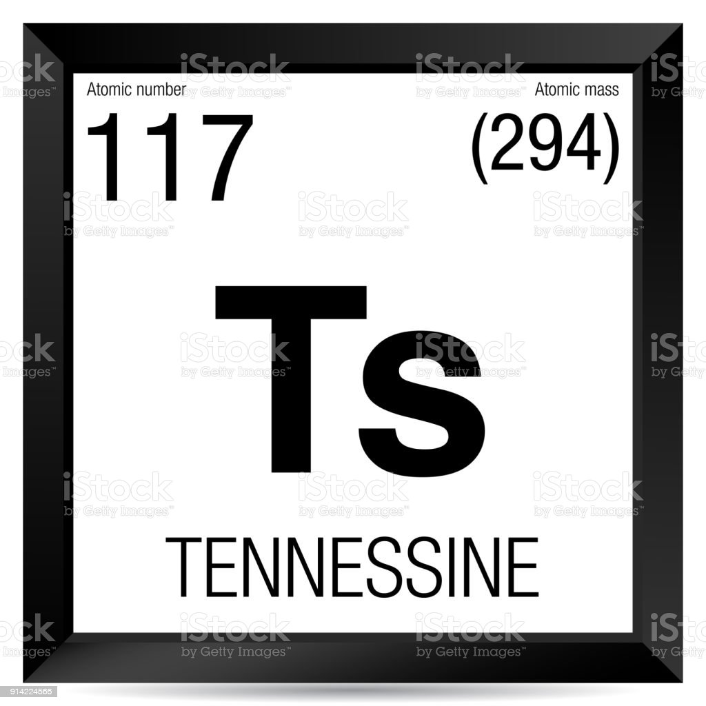 Tennessine Symbol Element Number 117 Of The Periodic Table Of The