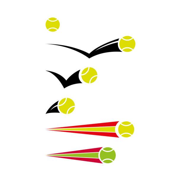tennis 9 vector art illustration
