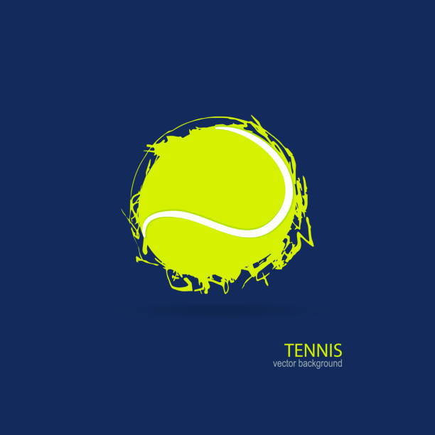Tennis, abstract ball, design, element for a sports banner, poster. Design print for T-shirts. vector art illustration
