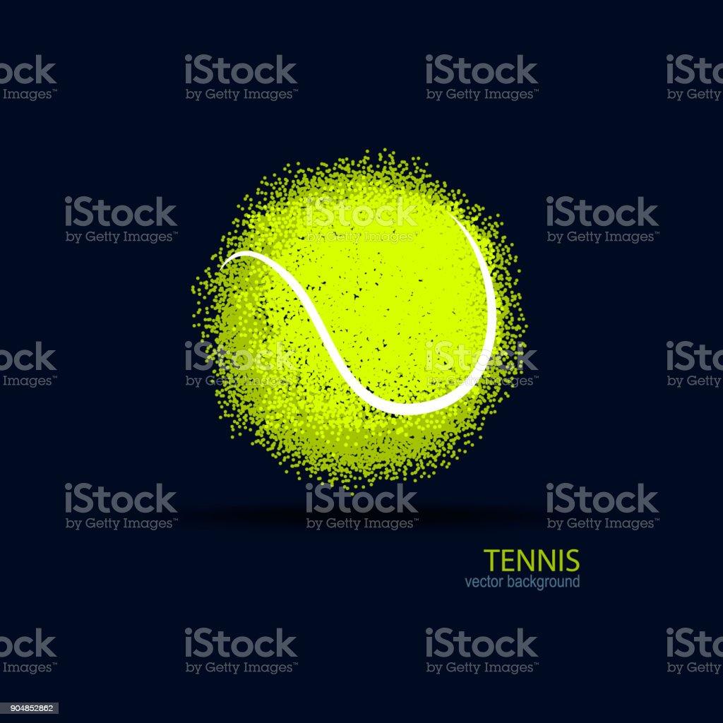 テニス、抽象的なボール、デザイン、スポーツ旗の要素ポスター。 ベクターアートイラスト