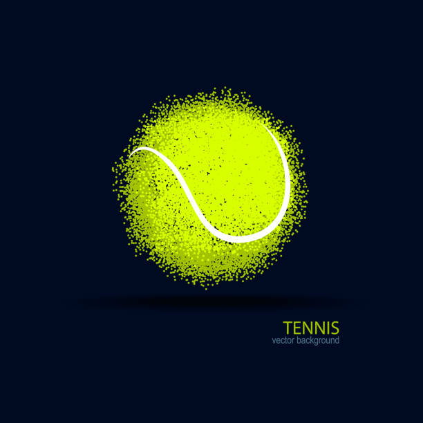 Tennis, abstract ball, design, element for a sports banner, poster. vector art illustration