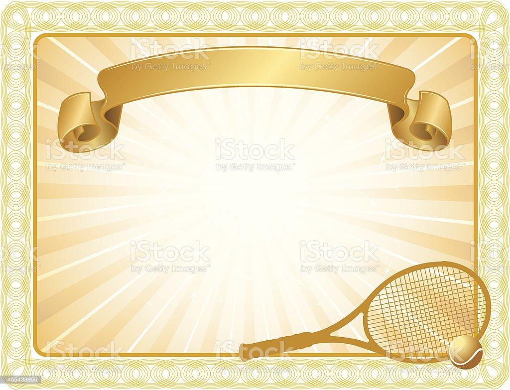 Tennis Award Certificate Background Stock Vector Art ...
