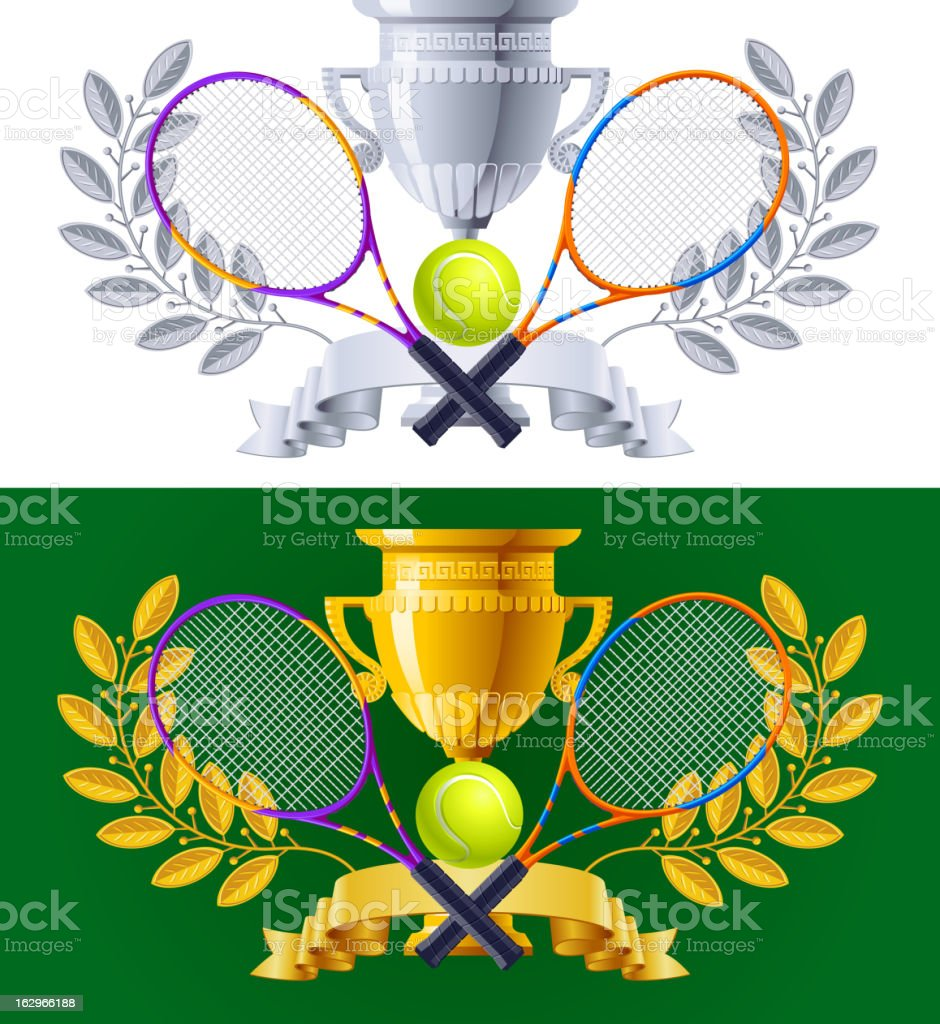 Tennis Award Cup royalty-free stock vector art