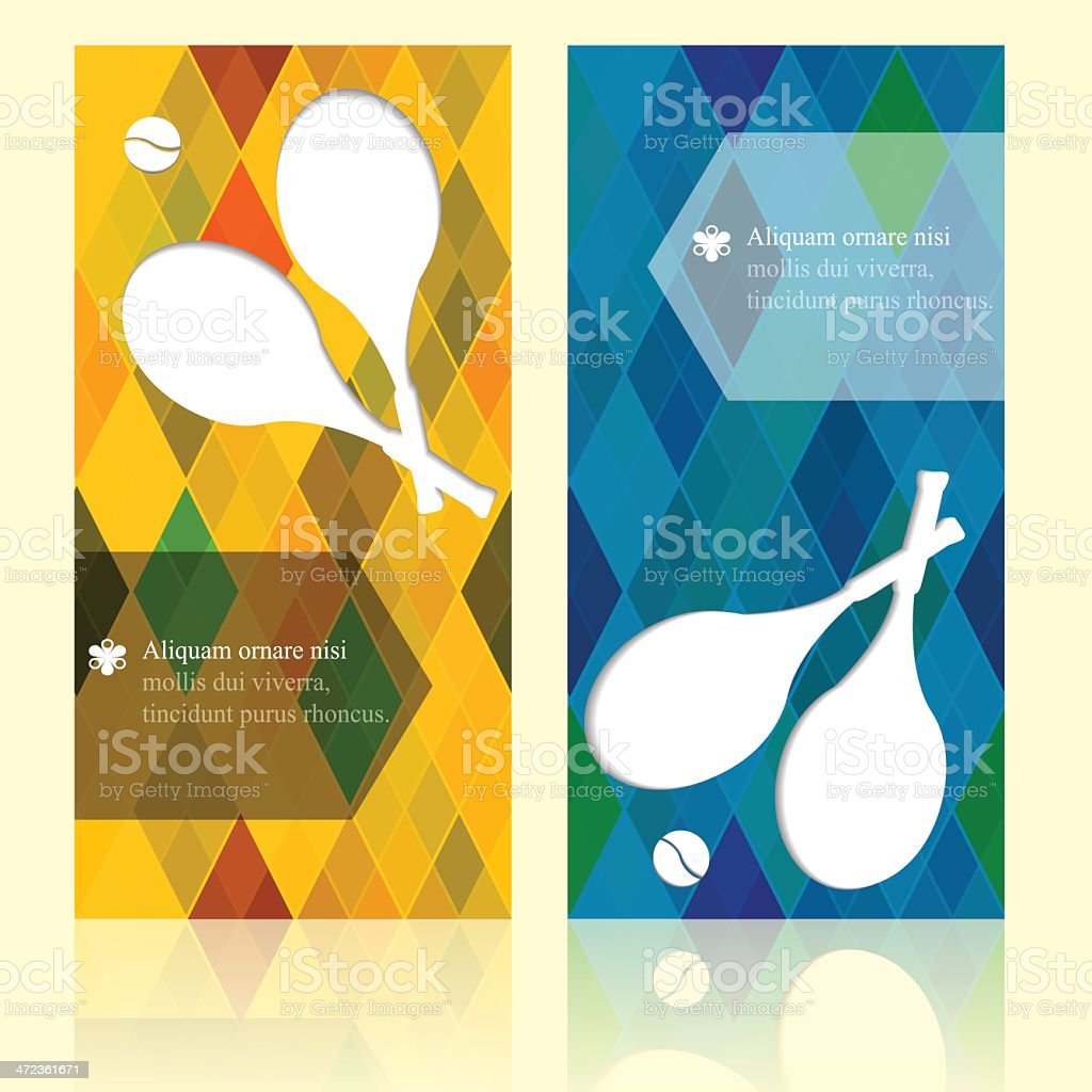 Tennis background. Sport brochure beauty template cards with your text. vector art illustration