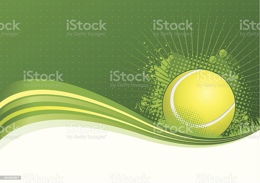 Tennis background vector art illustration