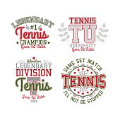 Tennis Badge Set