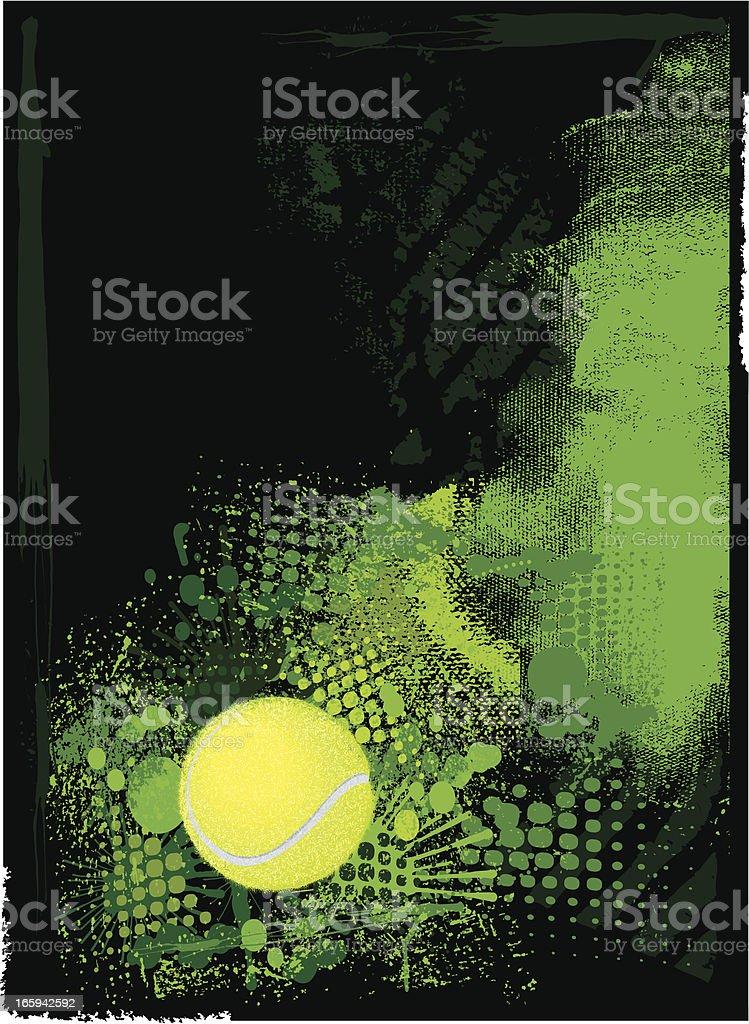 Tennis Ball Background royalty-free stock vector art