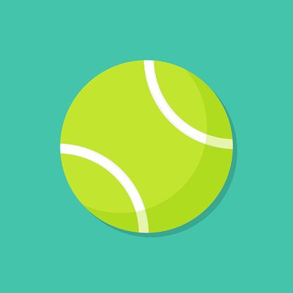 Tennis Ball Cartoon Illustration
