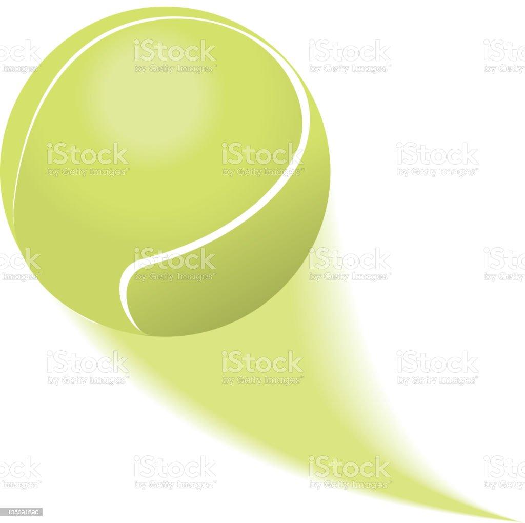Tennis Ball Flying or Soaring vector art illustration
