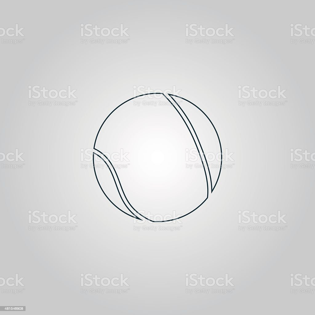 Tennis Ball Icon, sign and button vector art illustration