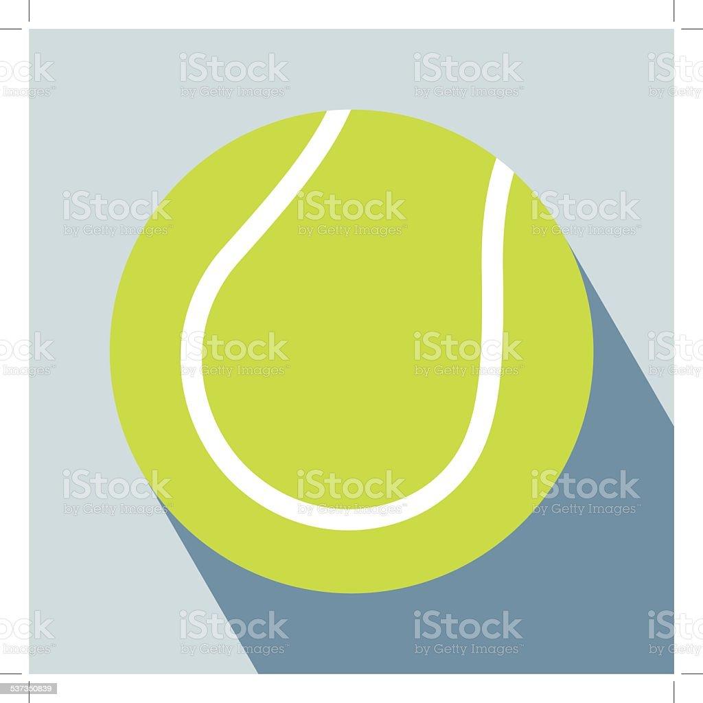 Tennis Ball Icon vector art illustration
