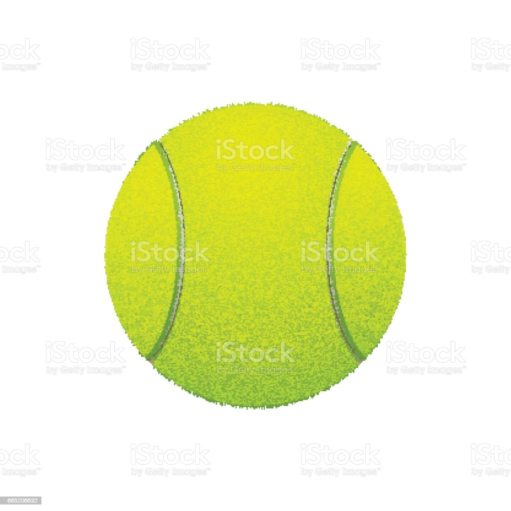 Tennis ball, isolated on white. Vector vector art illustration