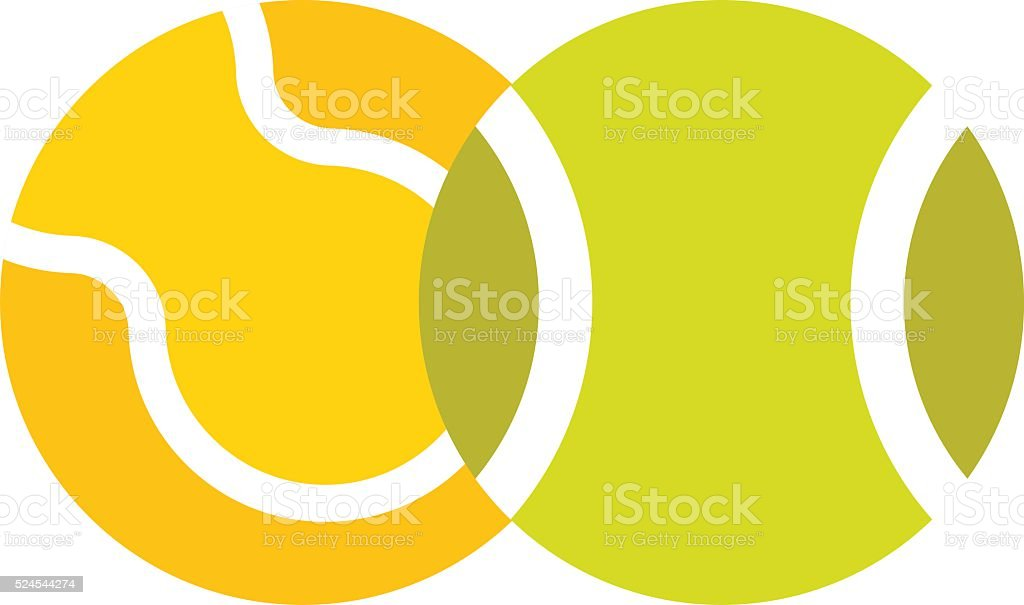 Tennis ball isolated sport equipment game circle round vector icon vector art illustration
