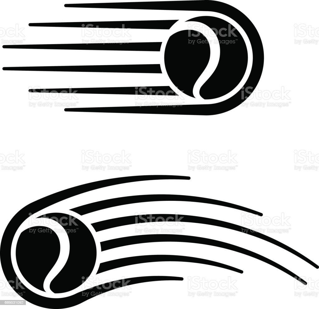 tennis ballon motion ligne symbole vecteur - Illustration vectorielle
